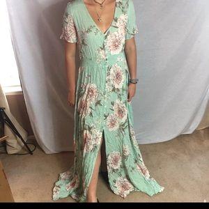 Floral Sweet Full-length Dress M, NWT